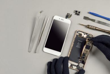 Remplacement de batterie d'IPhone en boutique